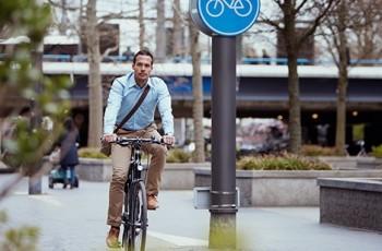 Lease fiets van de zaak